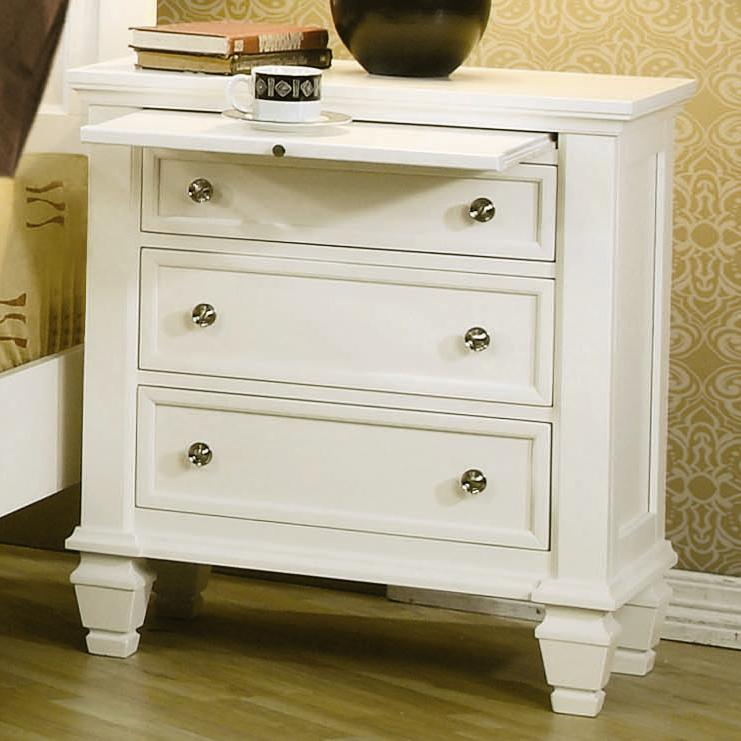 Sandy Beach Nightstand by Coaster at Lapeer Furniture & Mattress Center