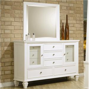 Coaster Sandy Beach Dresser and Mirror