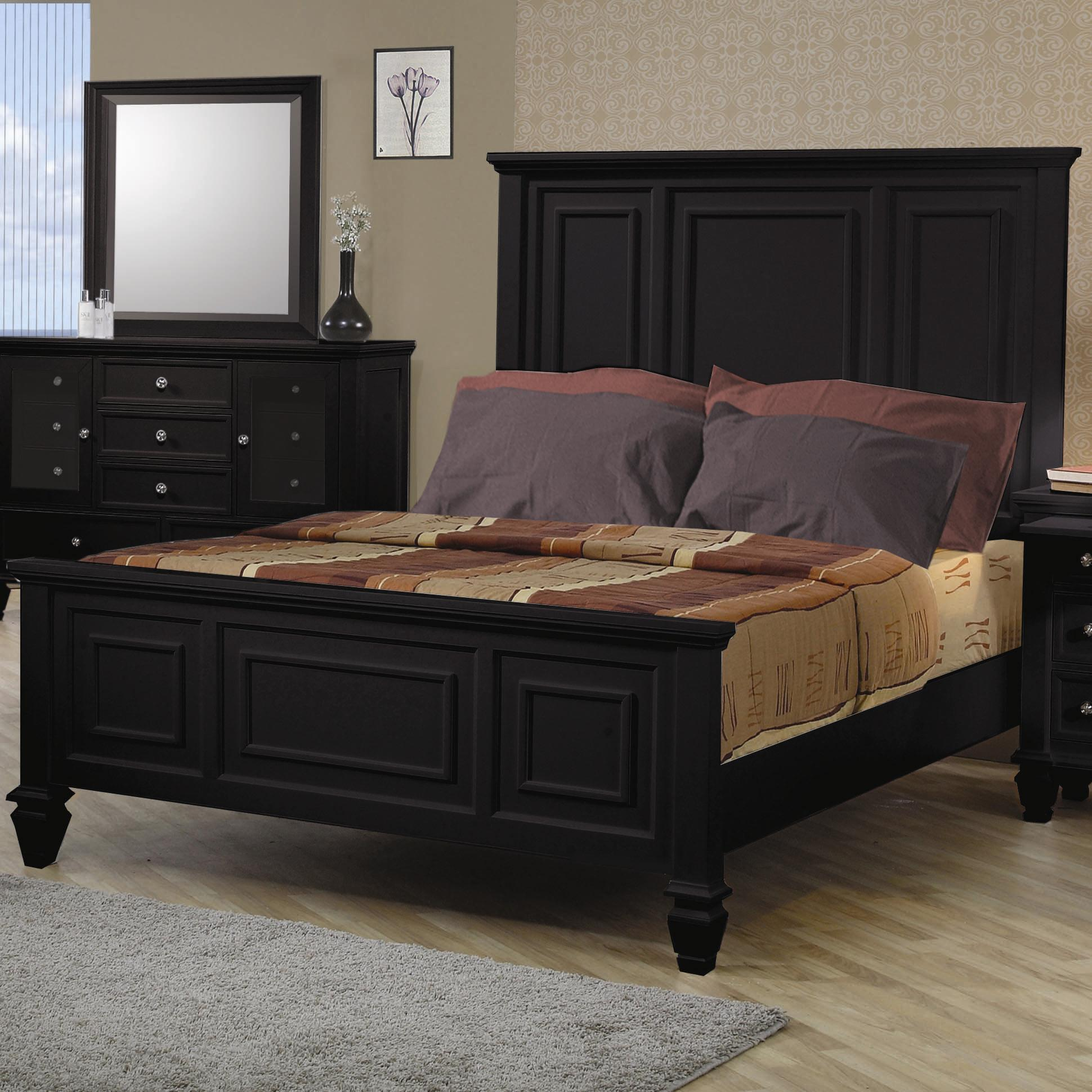 Sandy Beach King Headboard & Footboard Bed by Coaster at Furniture Superstore - Rochester, MN