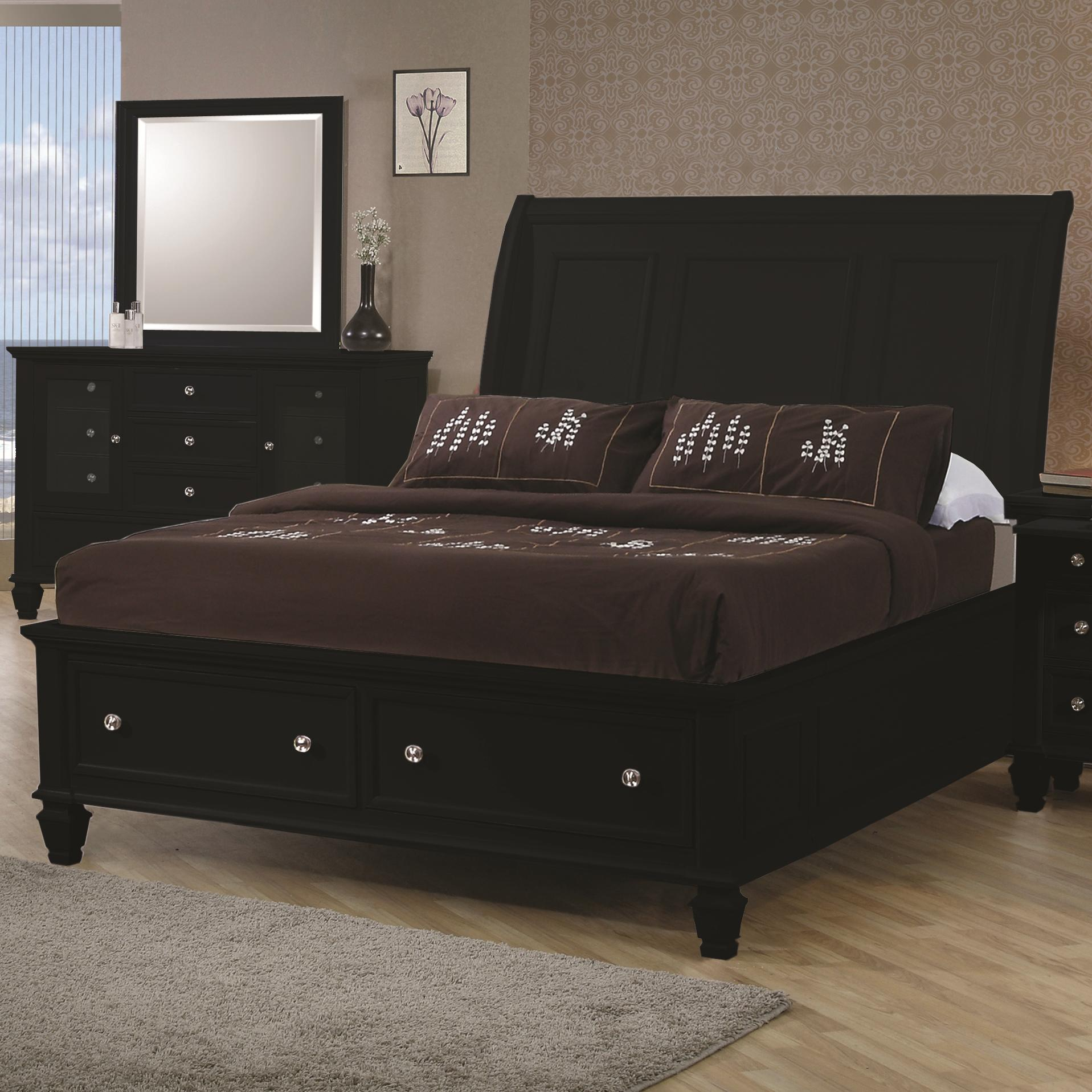 Sandy Beach King Sleigh Bed by Coaster at Rooms for Less