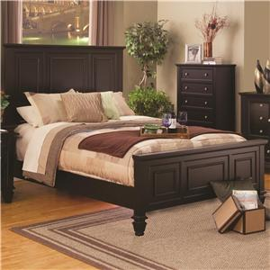 Classic California King High Headboard Bed