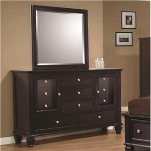 Classic 11 Drawer Dresser and Vertical Dresser Mirror