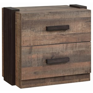 Contemporary Night Stand with Felt-Lined Top Drawer