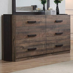 Contemporary Dresser with Felt-Lined Top Drawers