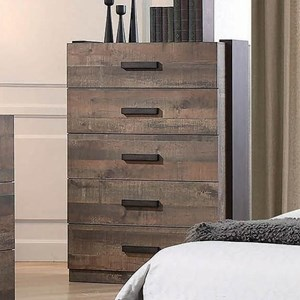 Contemporary Chest of Drawers with Felt-Lined Top Drawer