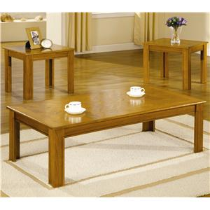 3 Piece Parquet Top Occasional Table Set