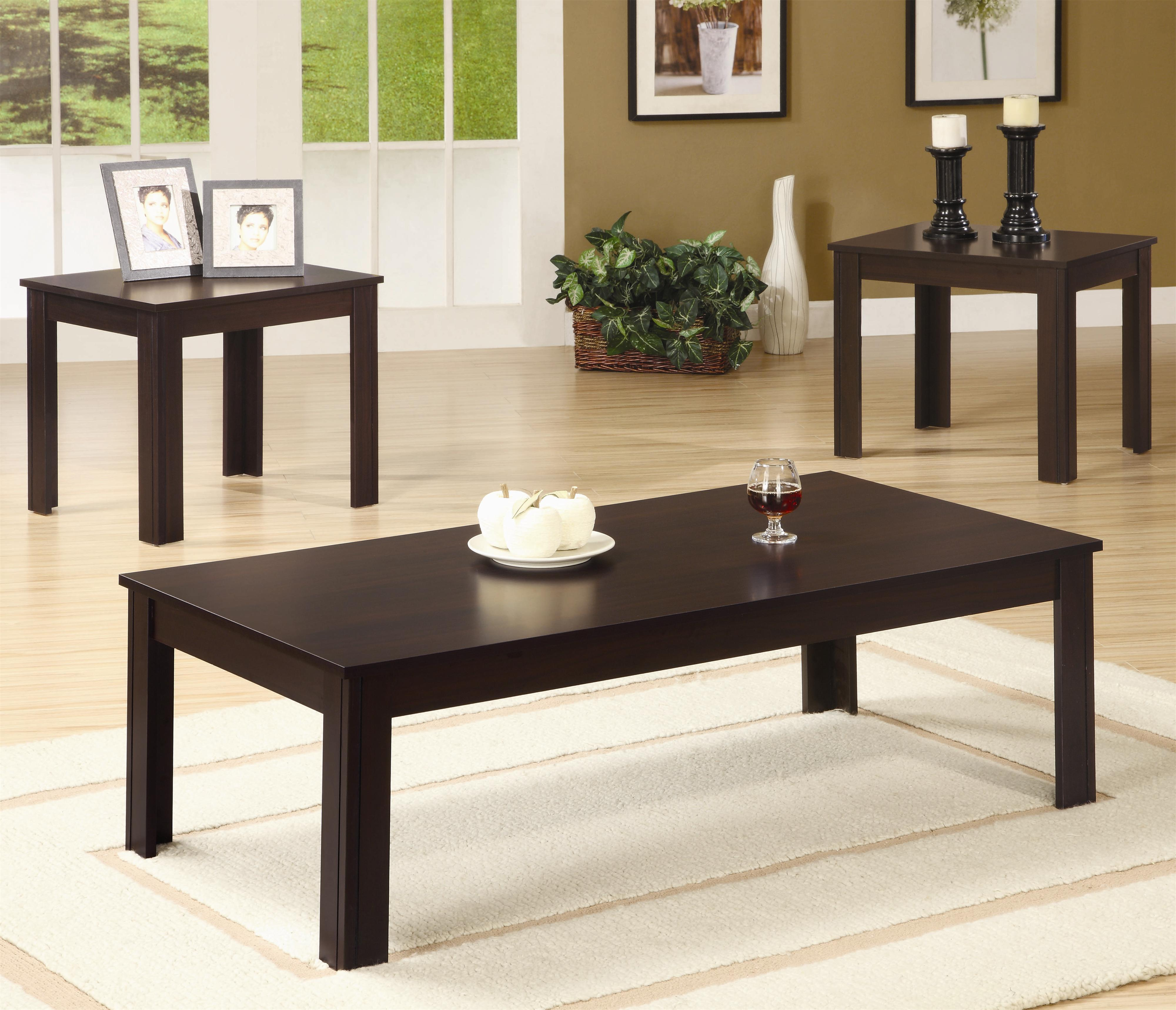 Occasional Table Sets 3 Piece Table Set by Coaster at Northeast Factory Direct
