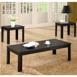 Casual Three Piece Occasional Table Set