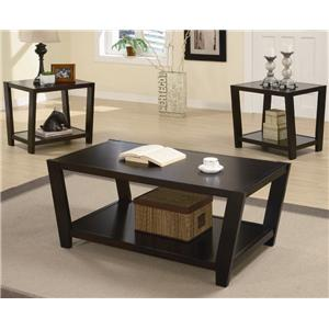 Contemporary 3 Piece Occasional Table Set