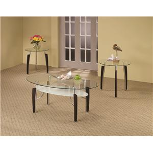 Coaster Occasional Table Sets 3-Piece Glass Top Occasional Set