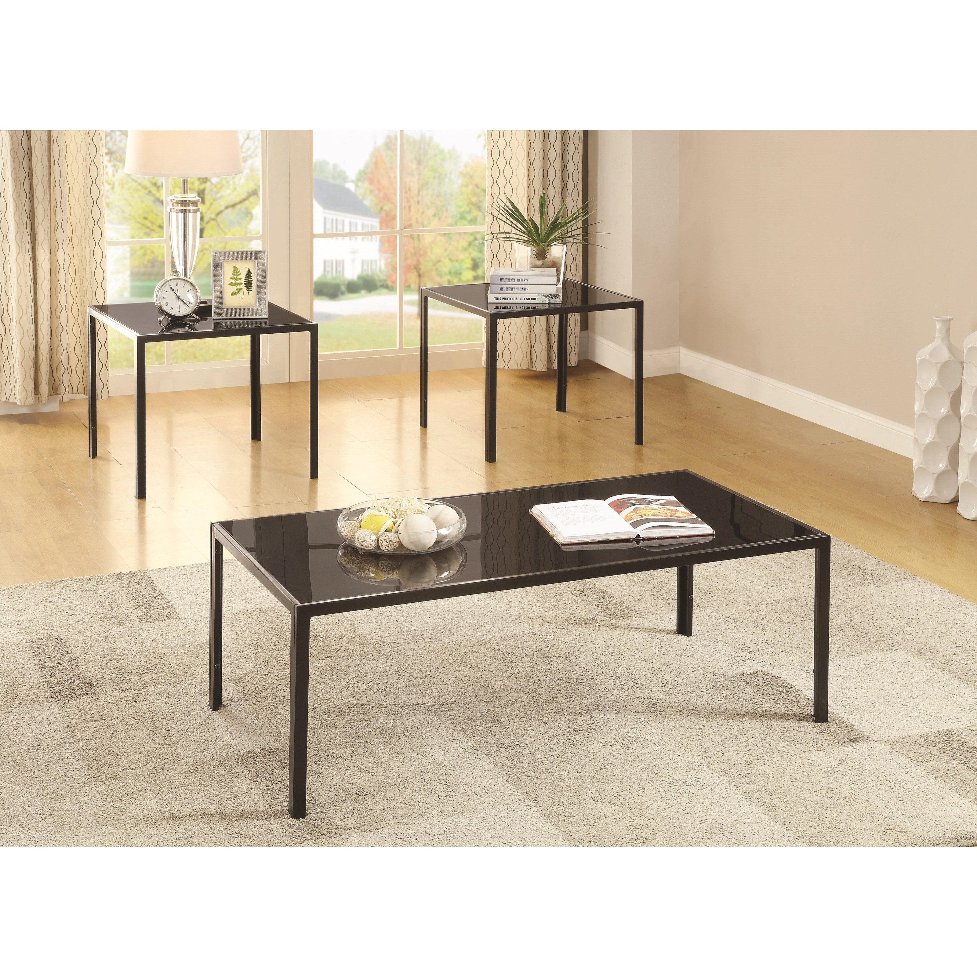 Occasional Table Sets 3 Piece Occasional Set by Coaster at Standard Furniture