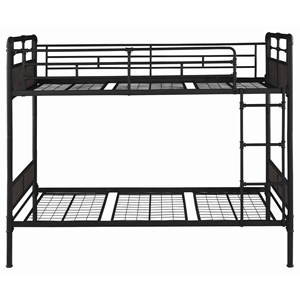 Industrial Twin Bunk Bed with Plumbing Pipe Details