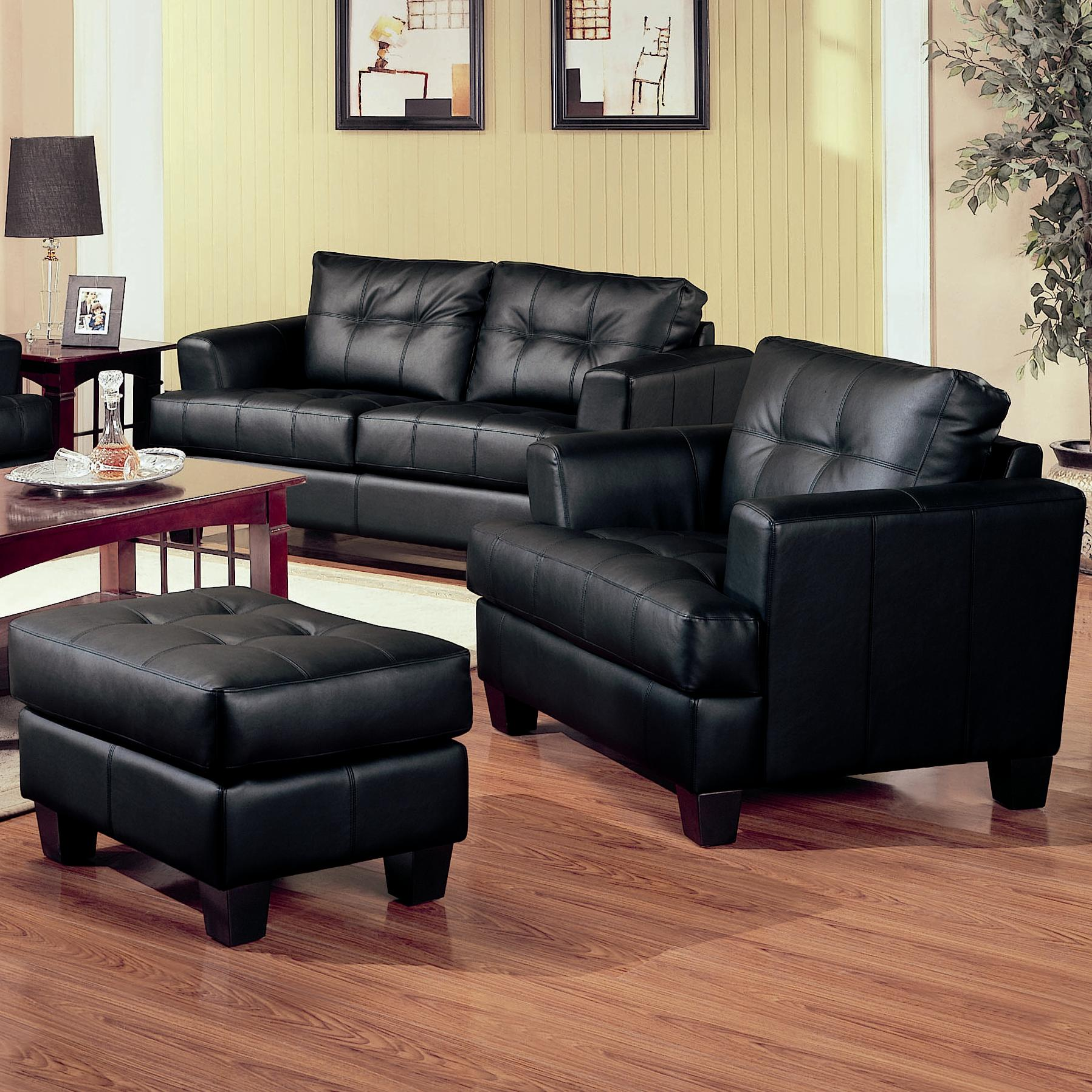 Samuel Chair and Ottoman by Coaster at Furniture Superstore - Rochester, MN