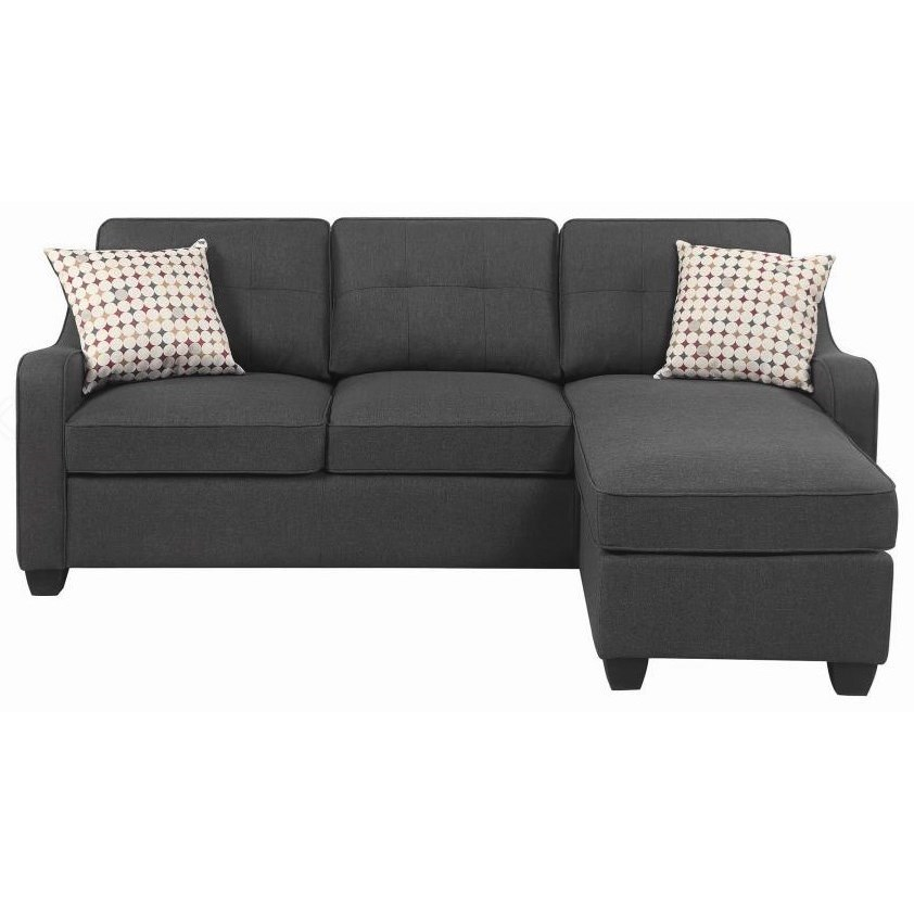 508320 Sectional with Chaise by Coaster at Standard Furniture