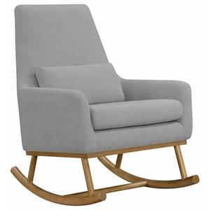 Rocking Chair in Grey Fabric