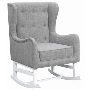 Rocking Chair with Button Tufted Wing Back