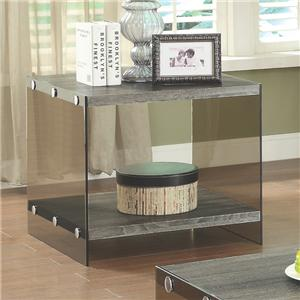 End Table w/ Glass Sides