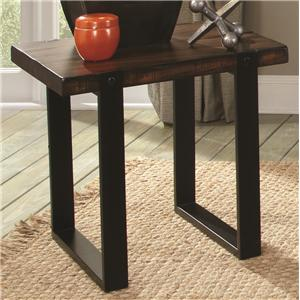 End Table with Two Tone Finish