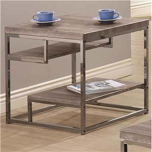 2 Shelf End Table with Chrome Frame