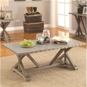Rectangular Nailhead Trim Coffee Table