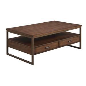 Industrial Two Drawer Coffee Table