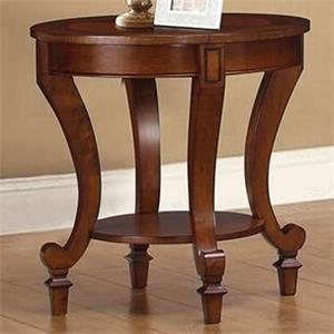 End Table with Decorative Wood Inlay