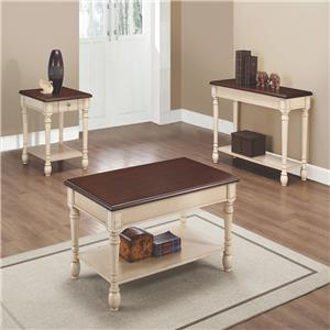 Two-Toned Transitional Occasional Table Group