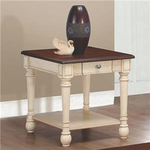Two-Toned Transitional End Table
