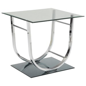 U-Shaped Contemporary End Table