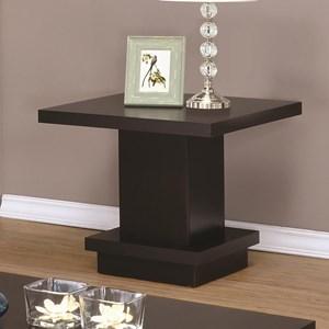 Modern Pedestal End Table