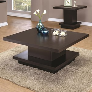 Modern Pedestal Coffee Table