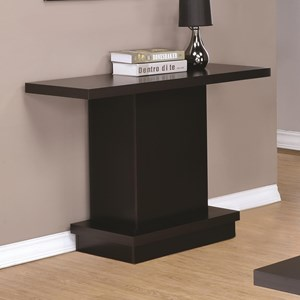 Modern Pedestal Sofa Table