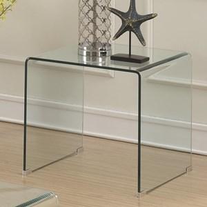Clear Acrylic End Table