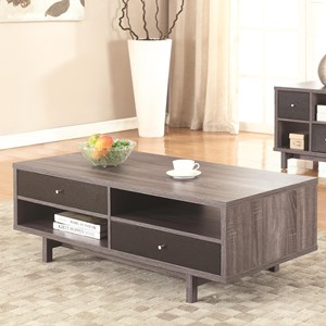 Grey Mid-Century Modern Coffee Table