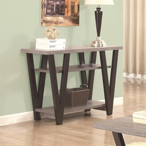 Two-Tone Angled Leg Sofa Table