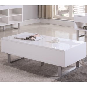 Rectangular Coffee Table with Two Drawers