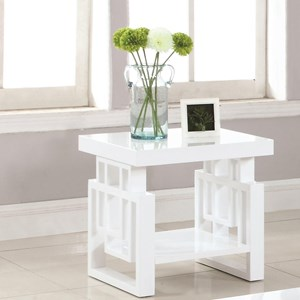Rectangular Contemporary End Table