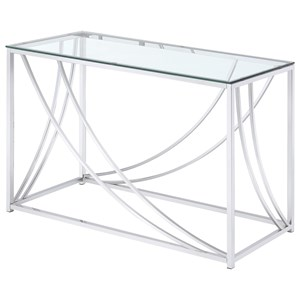 Modern Glass Top Sofa Table