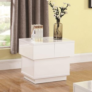 Contemporary End Table with Interior Storage