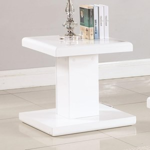 Contemporary End Table with Swiveling Top