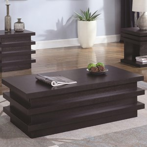 Rectangular Coffee Table with Storage Compartment