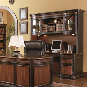 Traditional Kneehole Credenza and Hutch