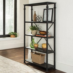 Industrial Bookcase with 4 Shelves