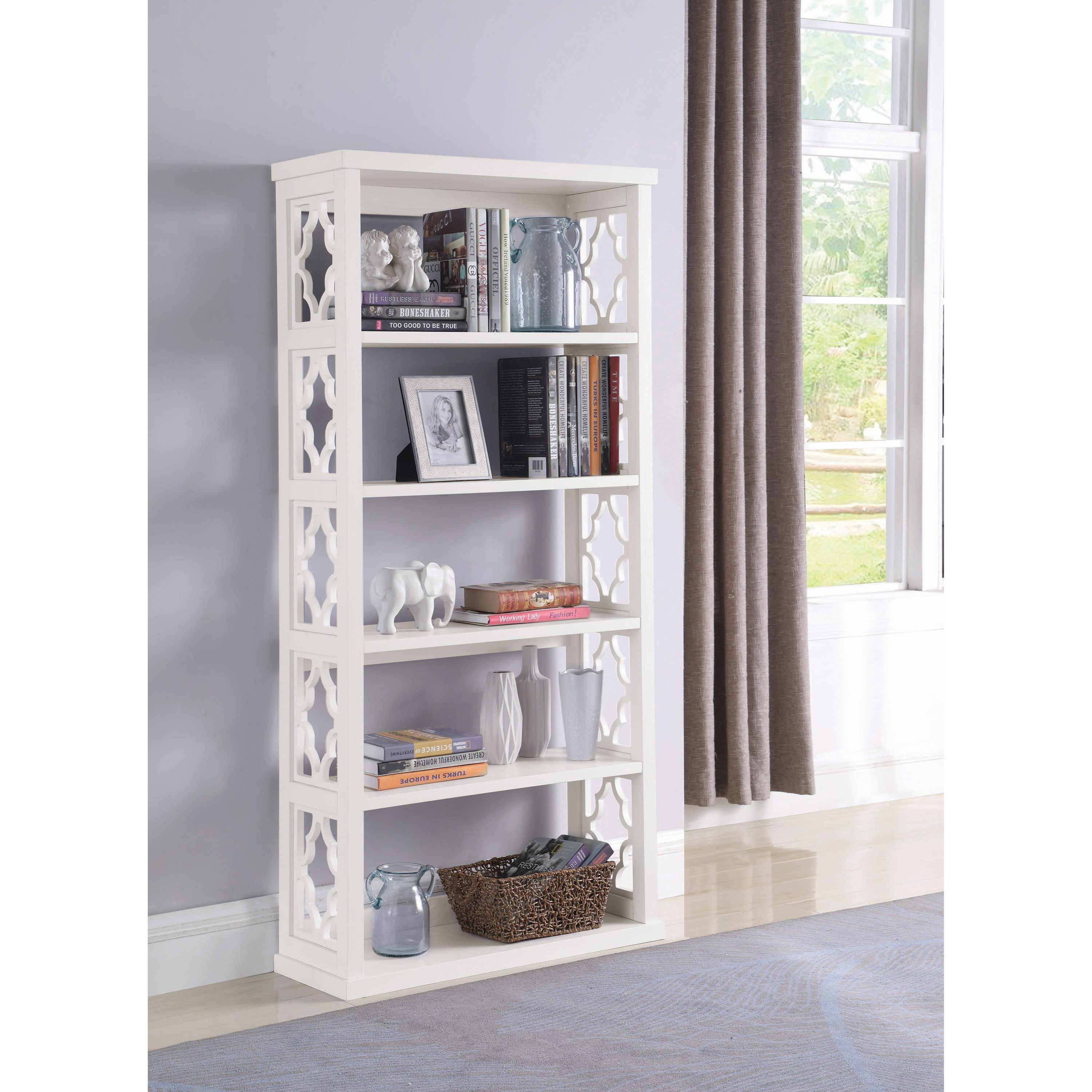 Accent Cabinets Bookcase by Coaster at Lapeer Furniture & Mattress Center