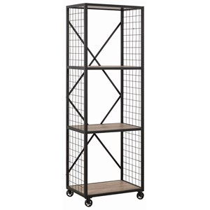 Industrial Bookcase with 3 Shelves