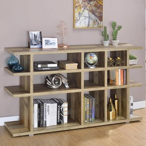 Contemporary Bookcase with Tier Shelving