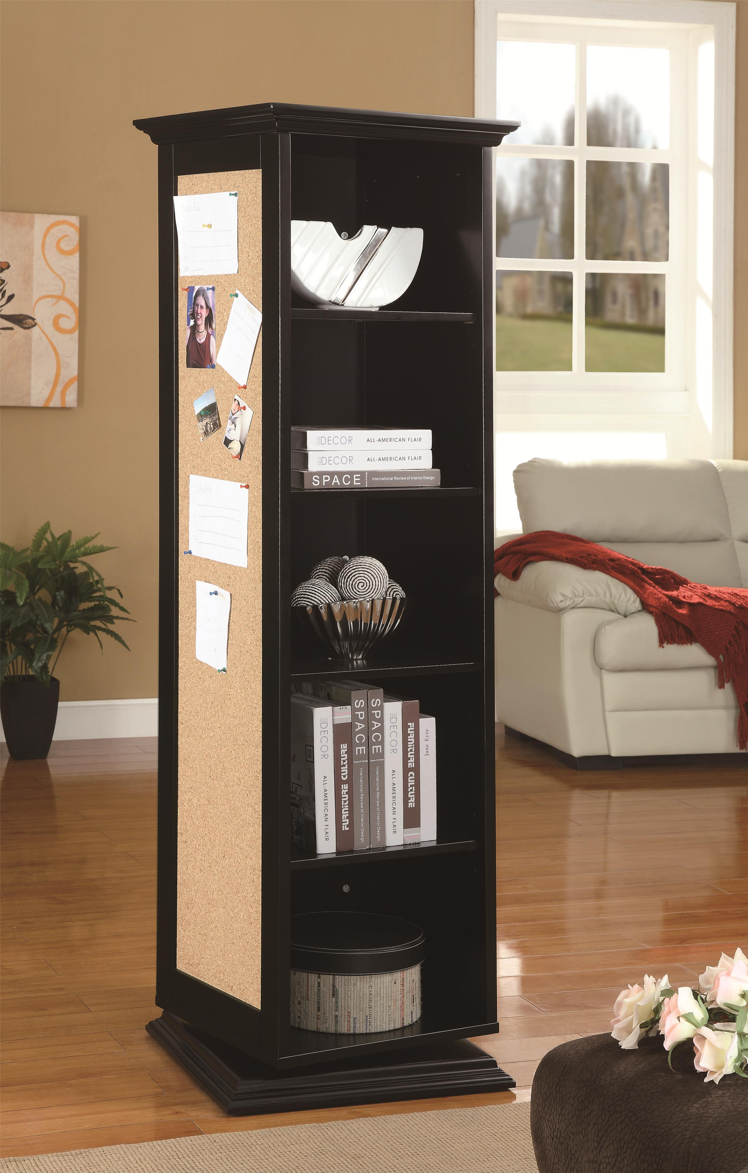 Accent Cabinets Swivel Cabinet by Coaster at Standard Furniture