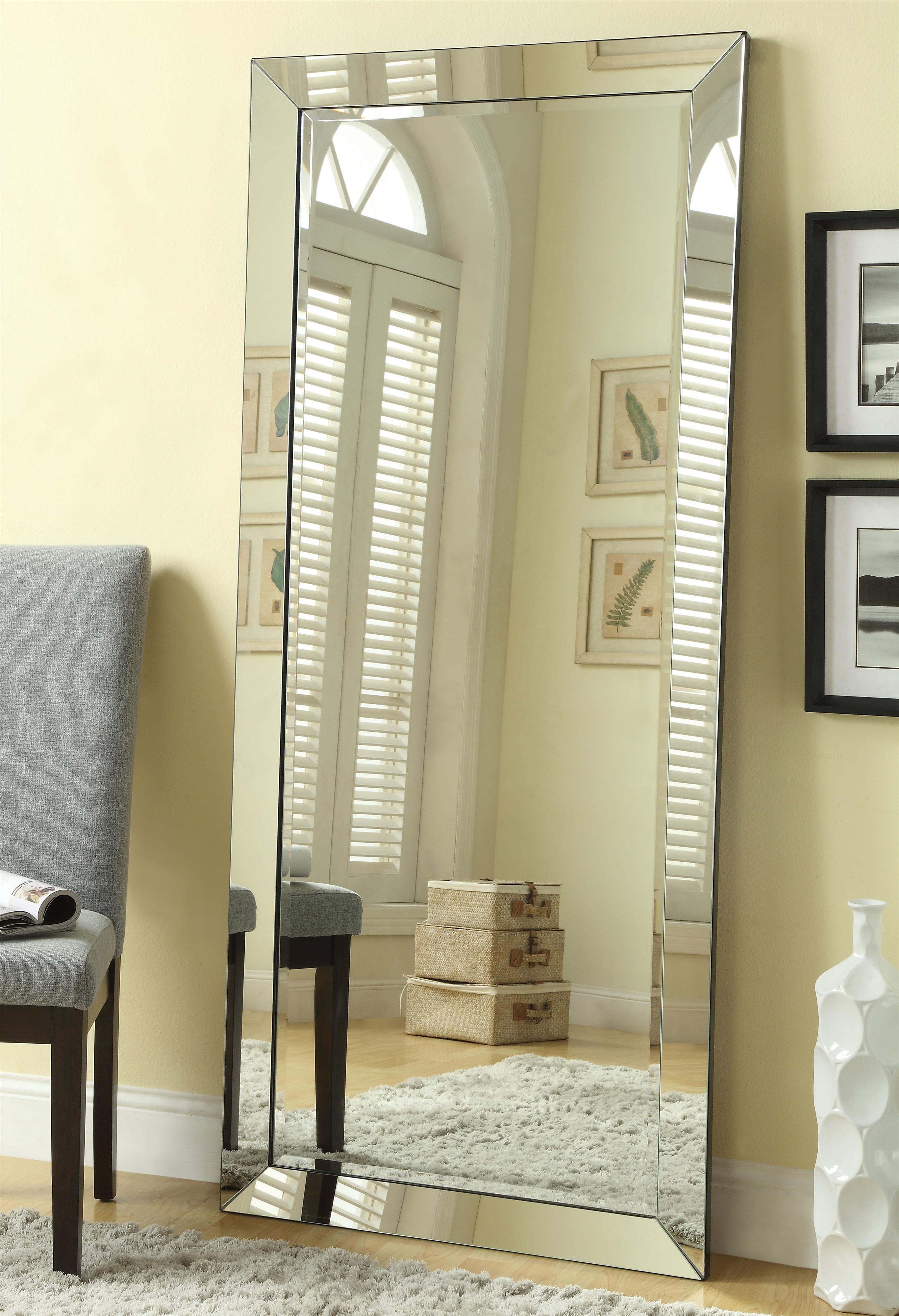 Accent Mirrors Floor Mirror by Coaster at Nassau Furniture and Mattress