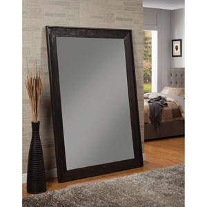 Accent Mirror with Distressed Frame