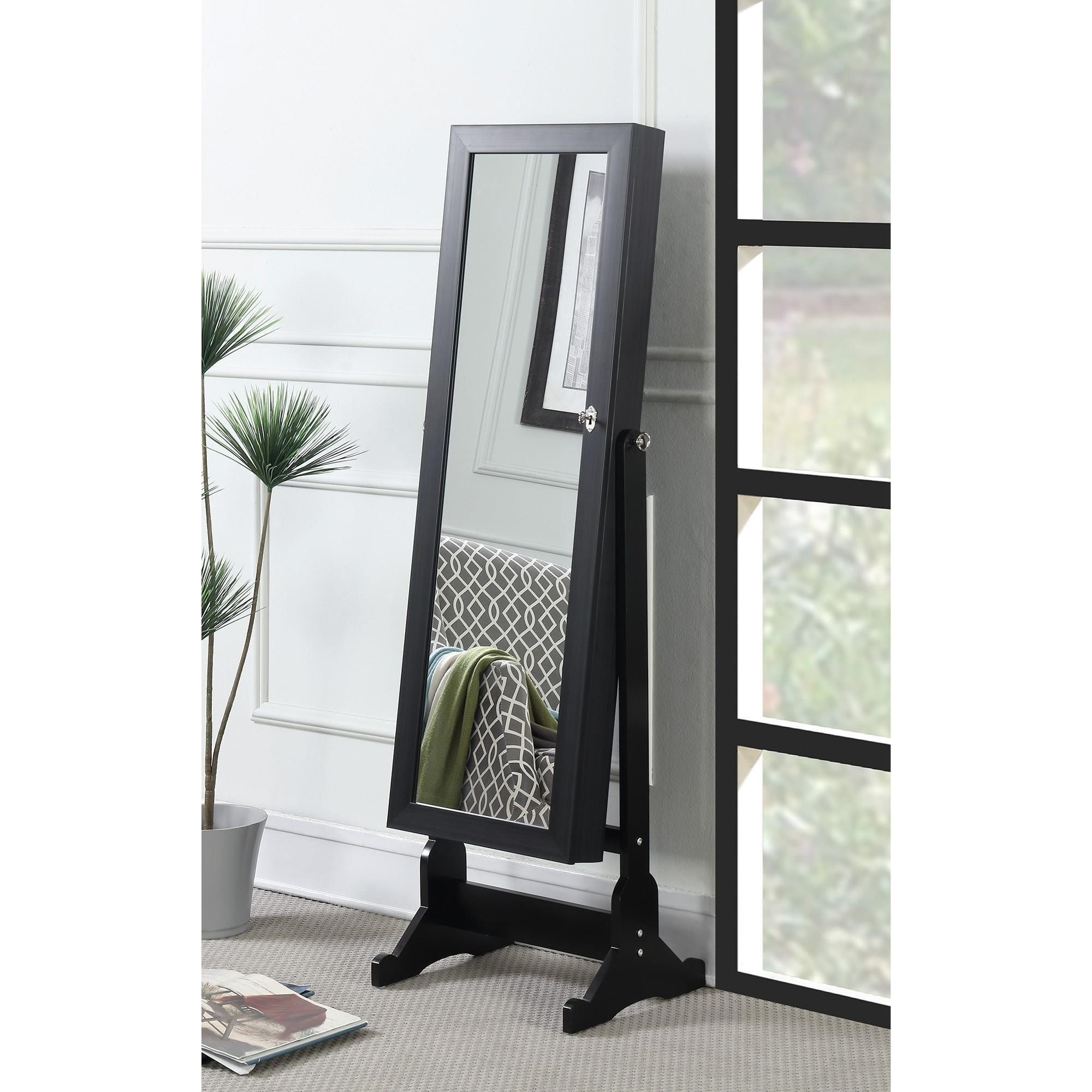 Accent Mirrors Jewelry Cheval Mirror by Coaster at Lapeer Furniture & Mattress Center